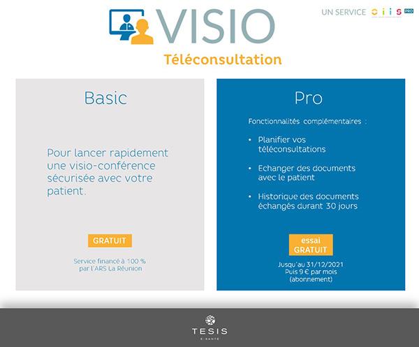 VISIO Téléconsultation : deux offres pour mieux s'adapter aux besoins des professionnels